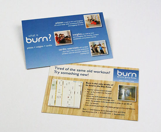 Burn: Promotional Direct Mail Postcard
